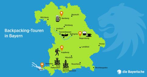 Diebayerische Ratgeber Backpacking Bayern