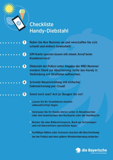 BAY Check HandyDiebstahl