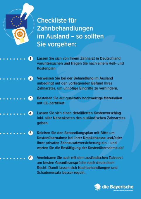 Diebayerische Ratgeber Zahnersatz Ausland Info