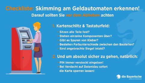 die Bayerische Skimmingschutz Checkliste