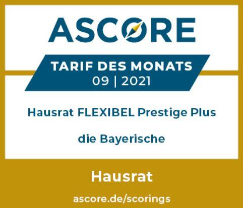 Die Bayerische Ascore Hausrat Tarifdesmonats
